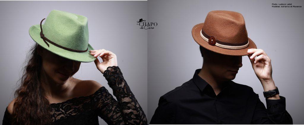 Antonio, Les Chapo de CarO. Chapeau en feutre mérinos de type trilby. Pour elle comme pour lui.