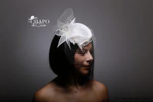 LesChapodeCaro-2019-bibi Amy pour la mariée en sisal, plumes et voilette blanche- Orléans