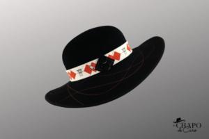 Les Chapo de Caro, Orléans Paris Capelinefeutre noir guêpier rouge asti côté droit