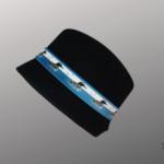Les Chapo de Caro, Orléans Paris, Chapeau Feutre Noir, Plongeon Bleu Vardo - côté 1