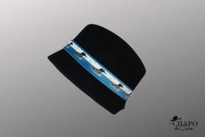 Les Chapo de Caro, Orléans Paris, Chapeau hiver Feutre Noir, Plongeon Bleu Vardo - côté 1