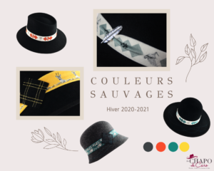 Les Chapo de Caro collection couleurs Sauvages Chapeaux Hommes Femmes hiver 2021