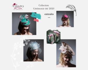 Les Chapo de Caro collection chapeaux et bibis Cérémonie été 2020