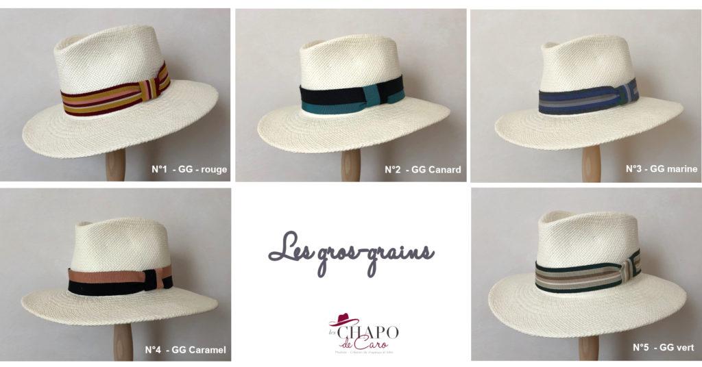 Rubans Les gros-grain chapeau Panama Sacha Les Chapo de Caro